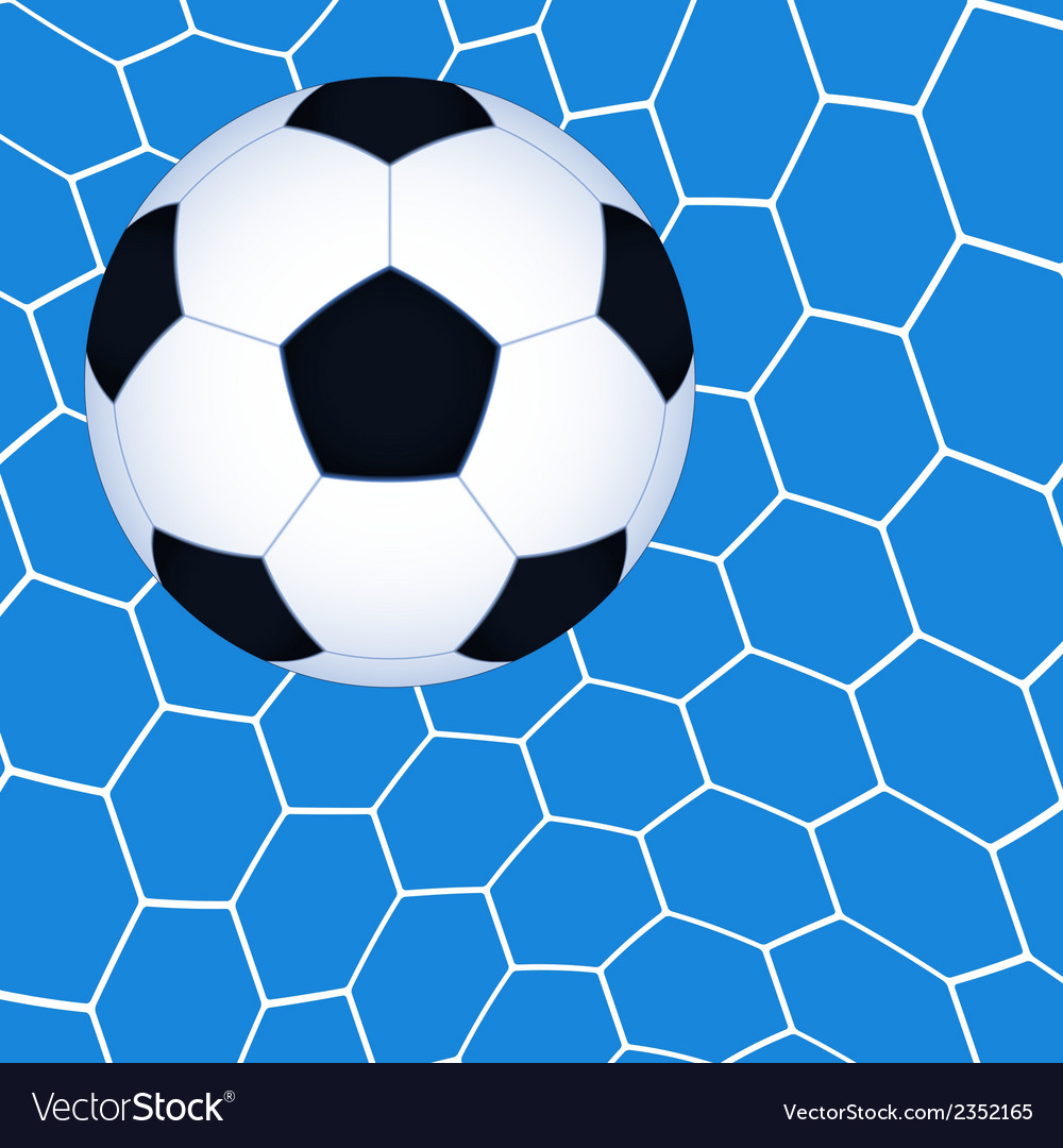 Soccer ball in the net vector | Price: 1 Credit (USD $1)