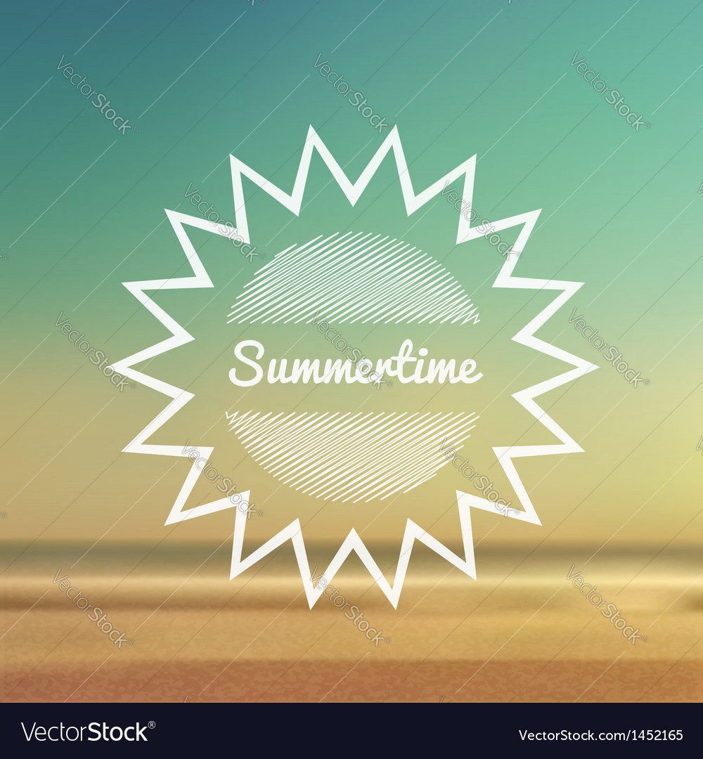 Summertime beach 2 vector | Price: 1 Credit (USD $1)