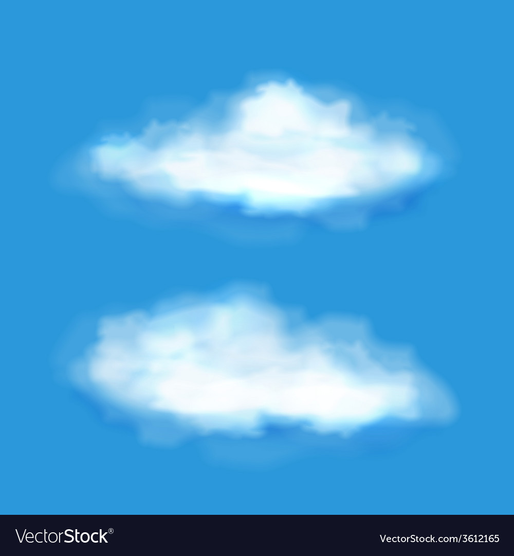 Transparent clouds on a blue sky vector | Price: 1 Credit (USD $1)