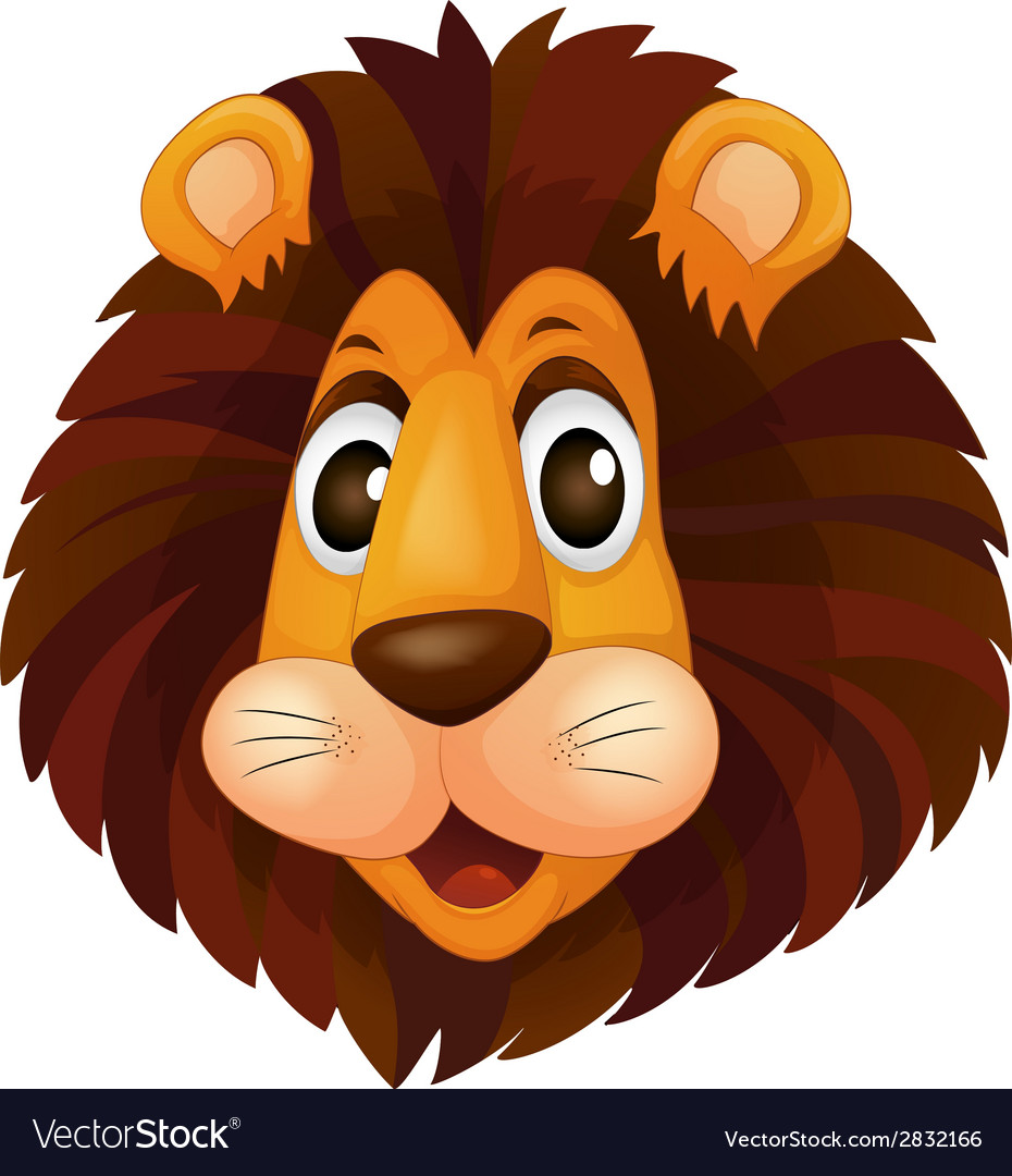 A head of a lion vector | Price: 1 Credit (USD $1)