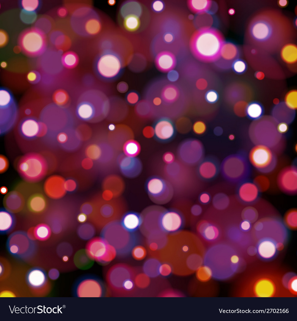Abstract dark background with bokeh lights vector | Price: 1 Credit (USD $1)