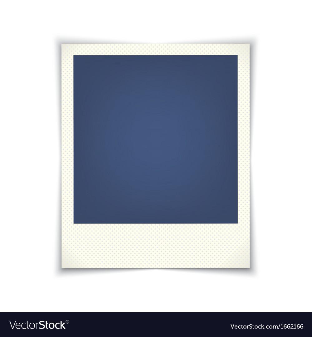 Blank photo frame vector   Price: 1 Credit (USD $1)