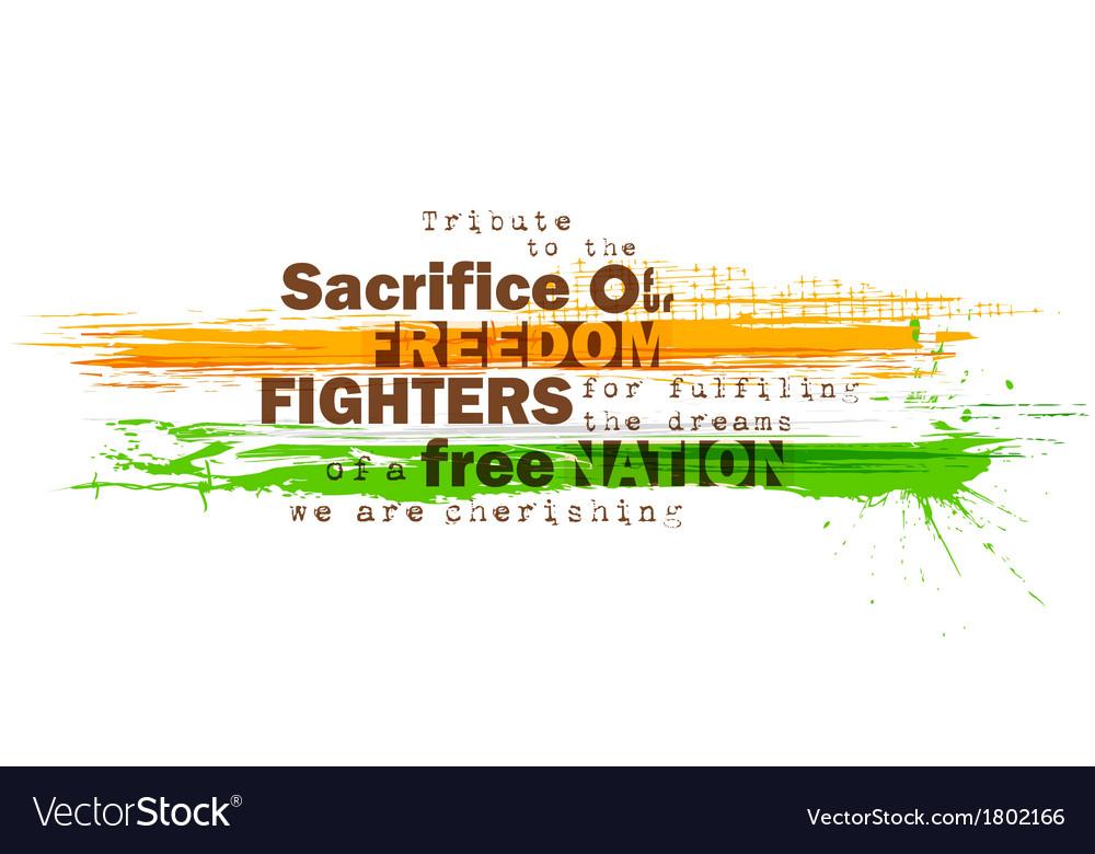 Indian motivitational background vector | Price: 1 Credit (USD $1)