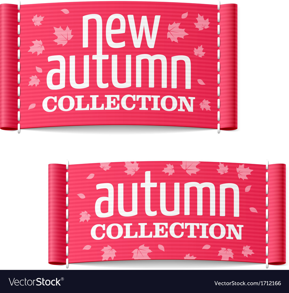 New autumn collection clothing labels vector | Price: 1 Credit (USD $1)