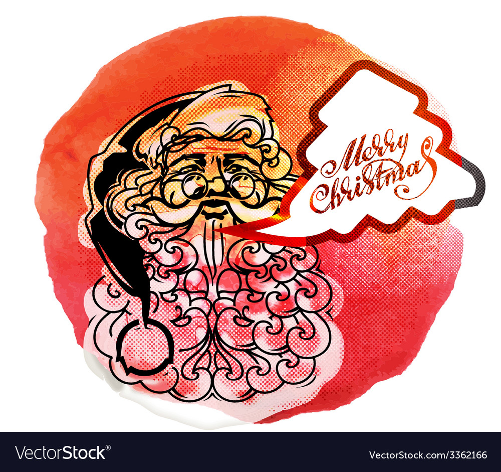 Santa claus creative christmas card vector | Price: 1 Credit (USD $1)