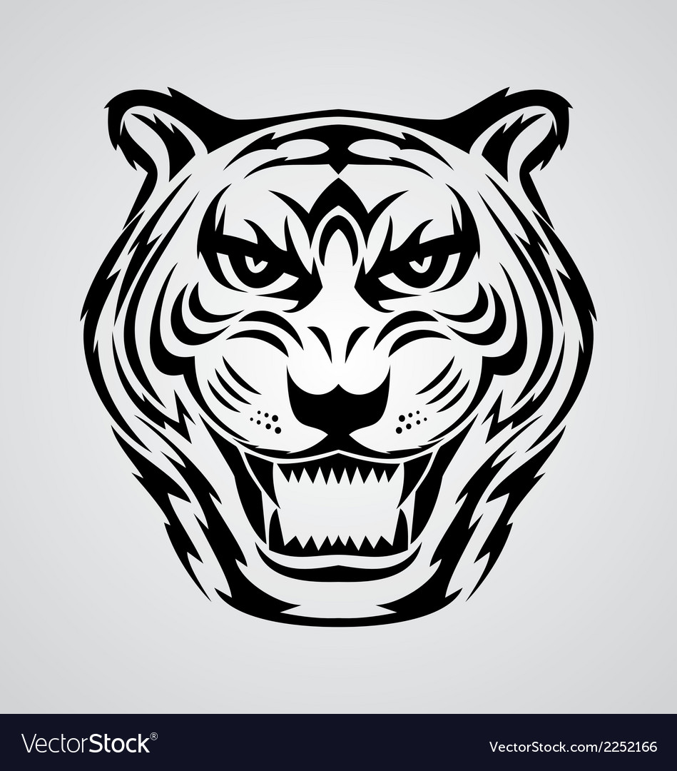 Tiger face vector | Price: 1 Credit (USD $1)