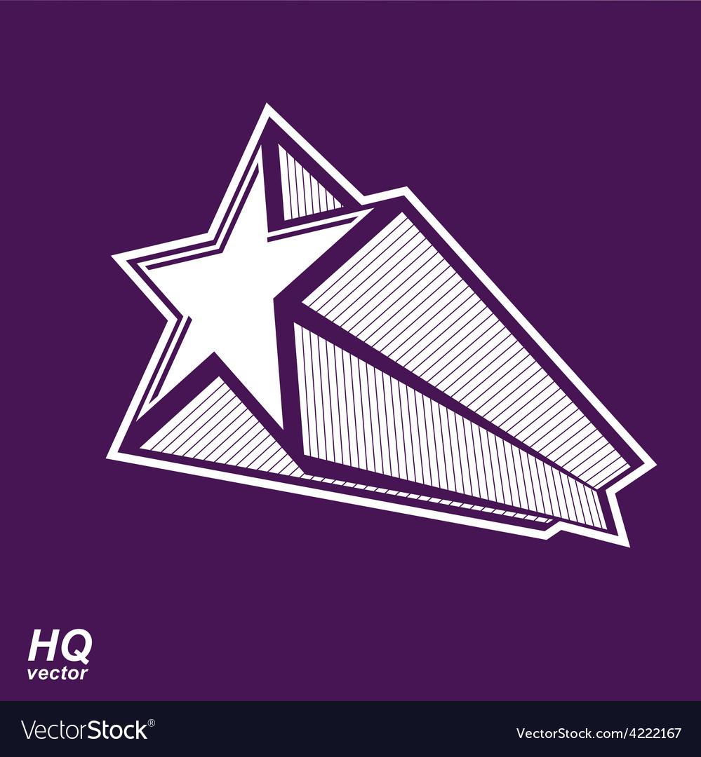 Celestial object pentagonal comet star gra vector | Price: 1 Credit (USD $1)