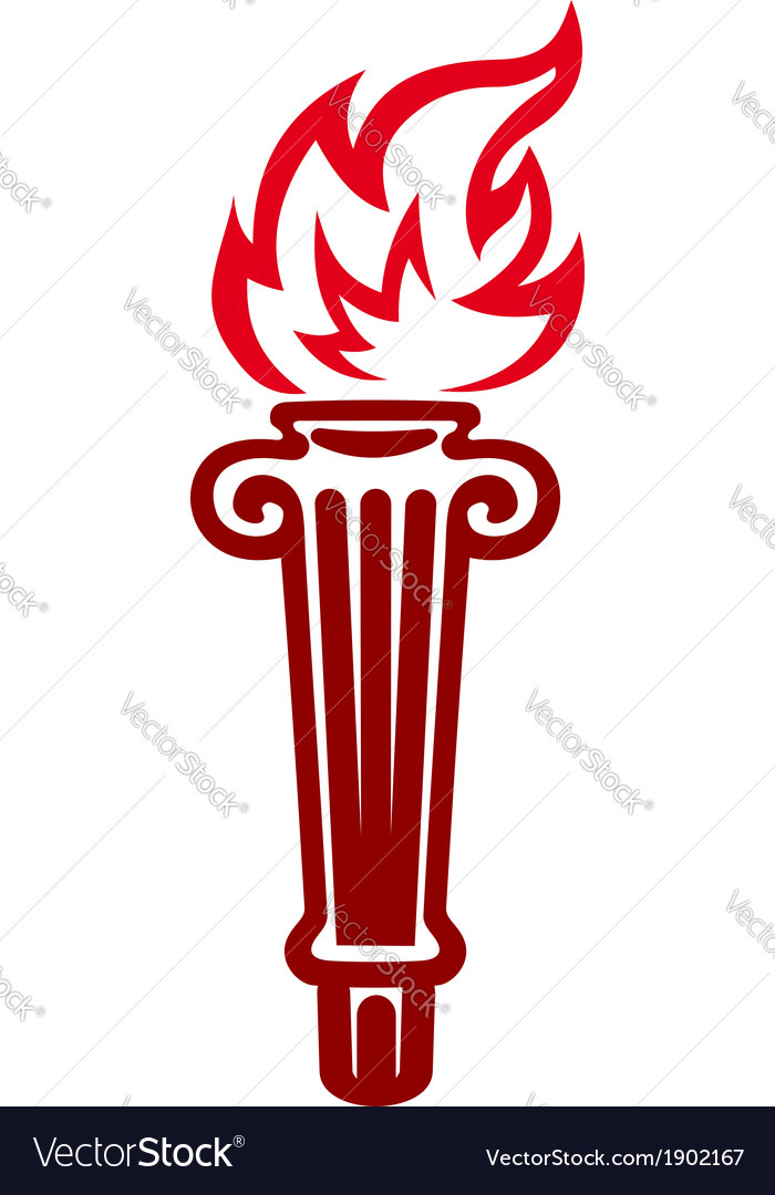 Flaming torch vector | Price: 1 Credit (USD $1)