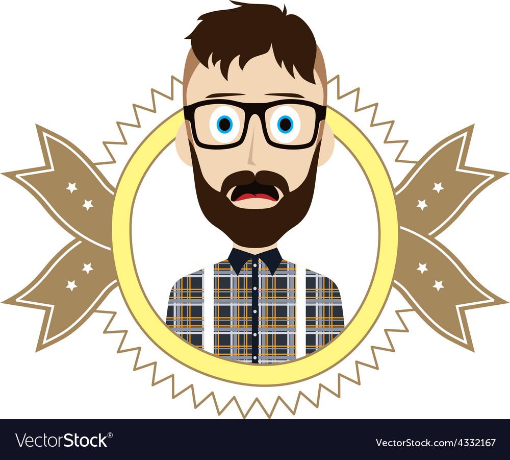 Geek retro guy vector | Price: 1 Credit (USD $1)