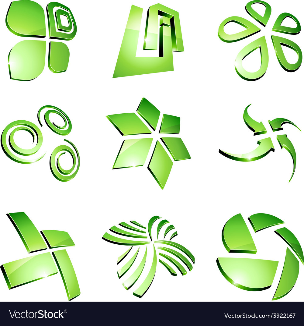 Green vibrant logos vector | Price: 1 Credit (USD $1)