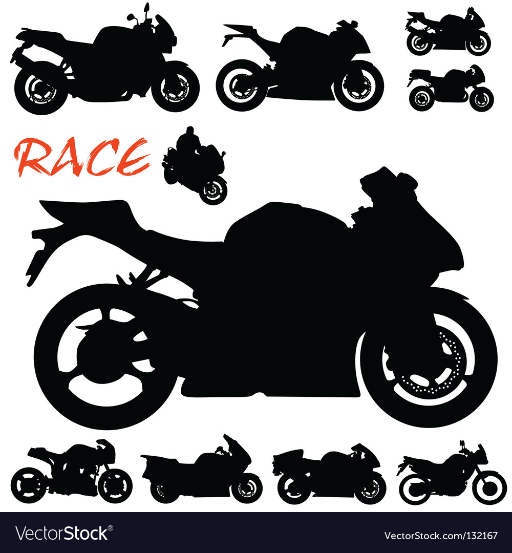 Race motorcycles vector | Price: 1 Credit (USD $1)
