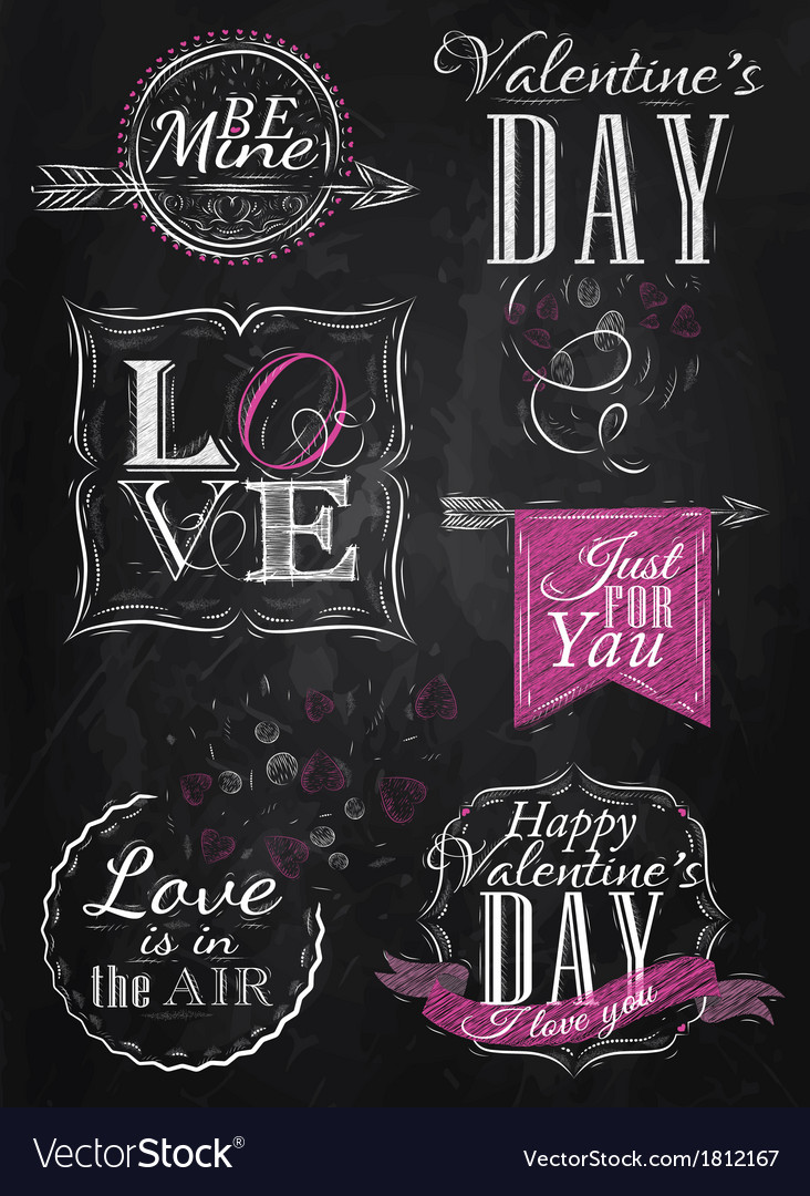 Set valentines day pink vector | Price: 1 Credit (USD $1)