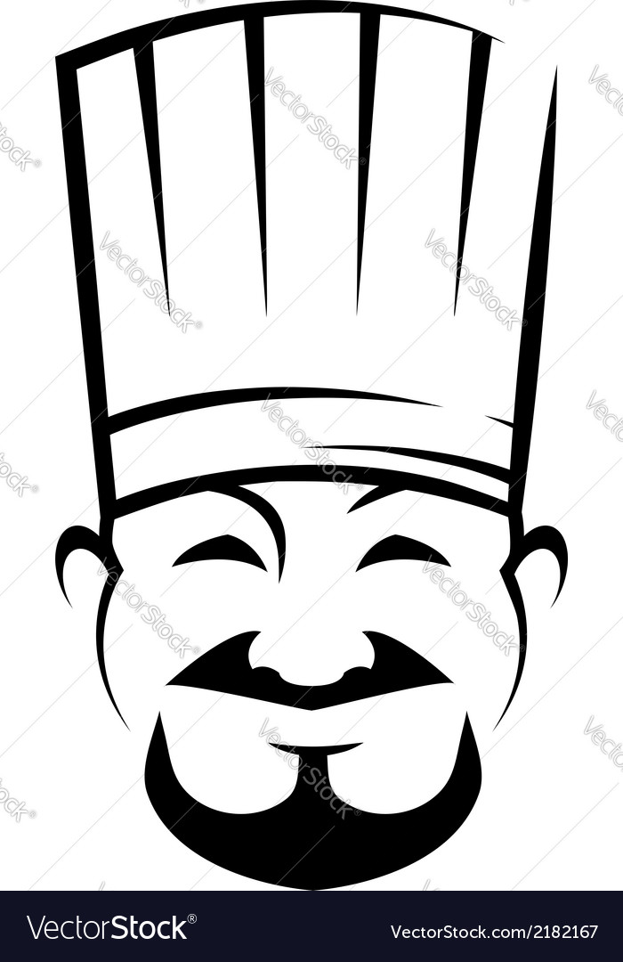 Smiling chinese chef with a goatee beard vector | Price: 1 Credit (USD $1)
