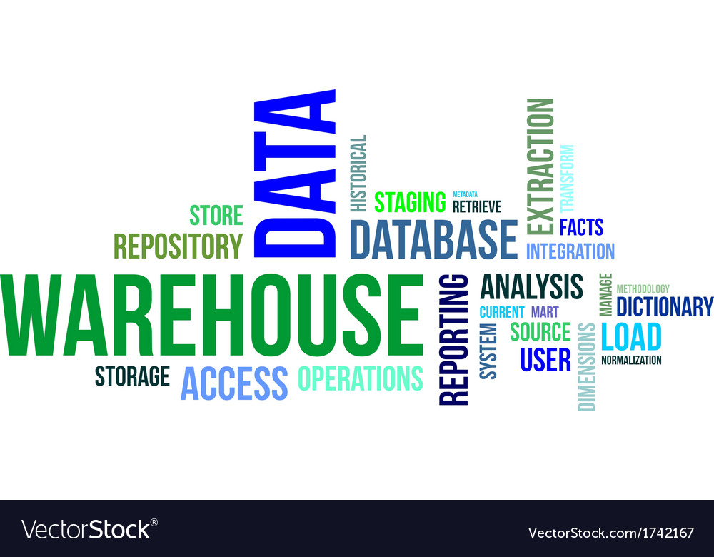 Word cloud data warehouse vector | Price: 1 Credit (USD $1)