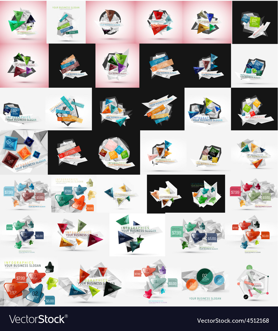 Abstract triangle geometric universal design vector | Price: 1 Credit (USD $1)