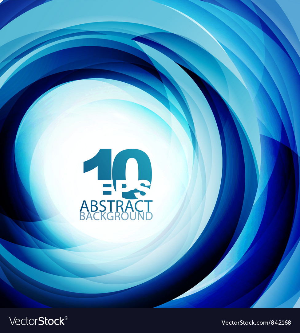 Blue swirl abstract background vector | Price: 1 Credit (USD $1)