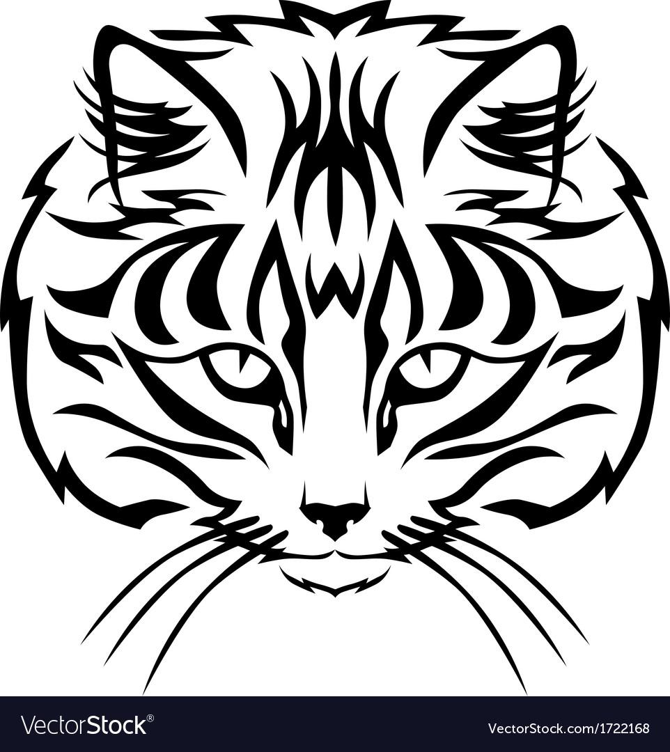 Cat muzzle black vector   Price: 1 Credit (USD $1)