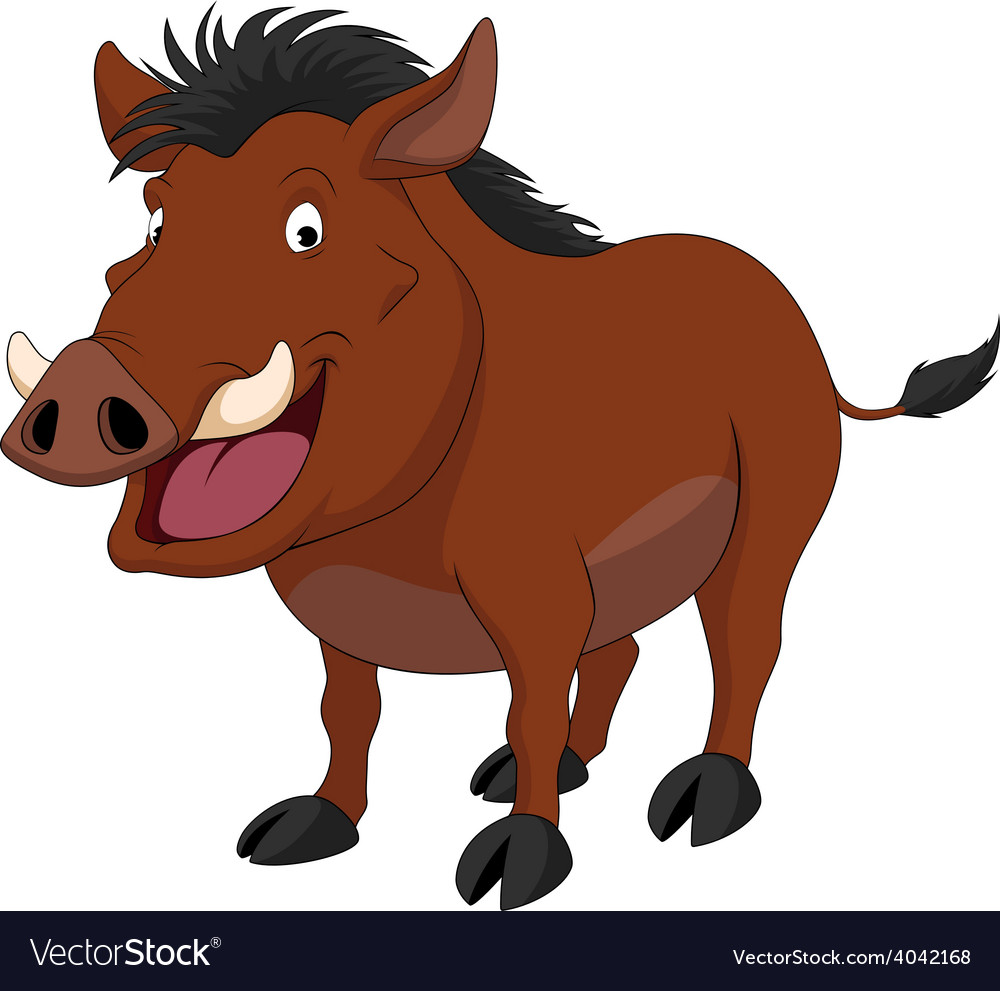 Cheerful warthog vector | Price: 1 Credit (USD $1)
