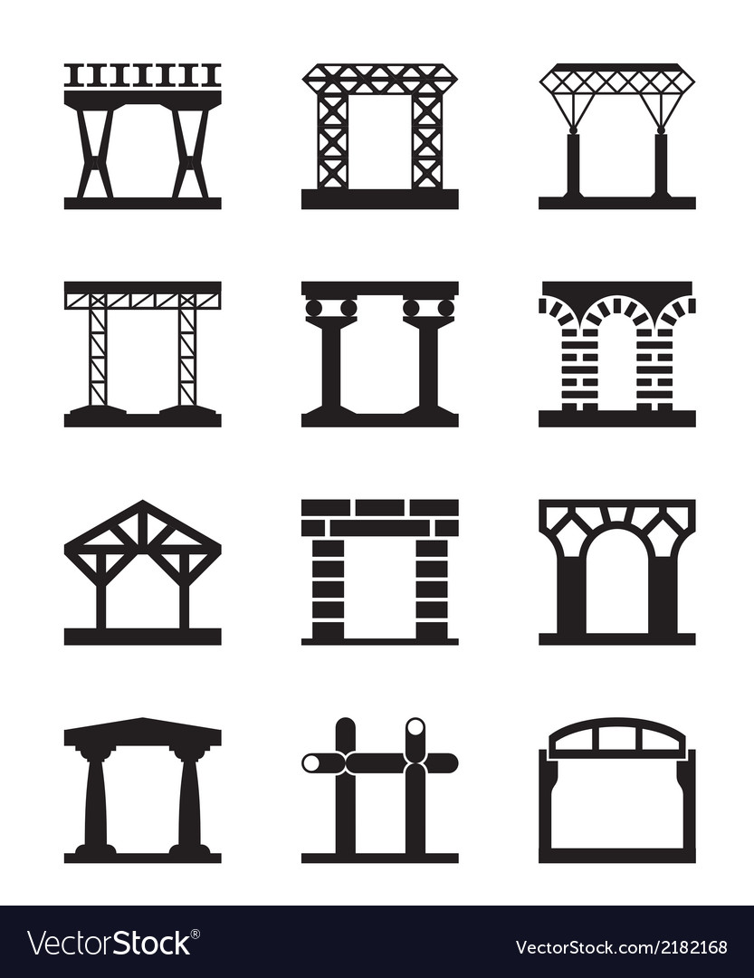 Different types of building structures vector | Price: 1 Credit (USD $1)