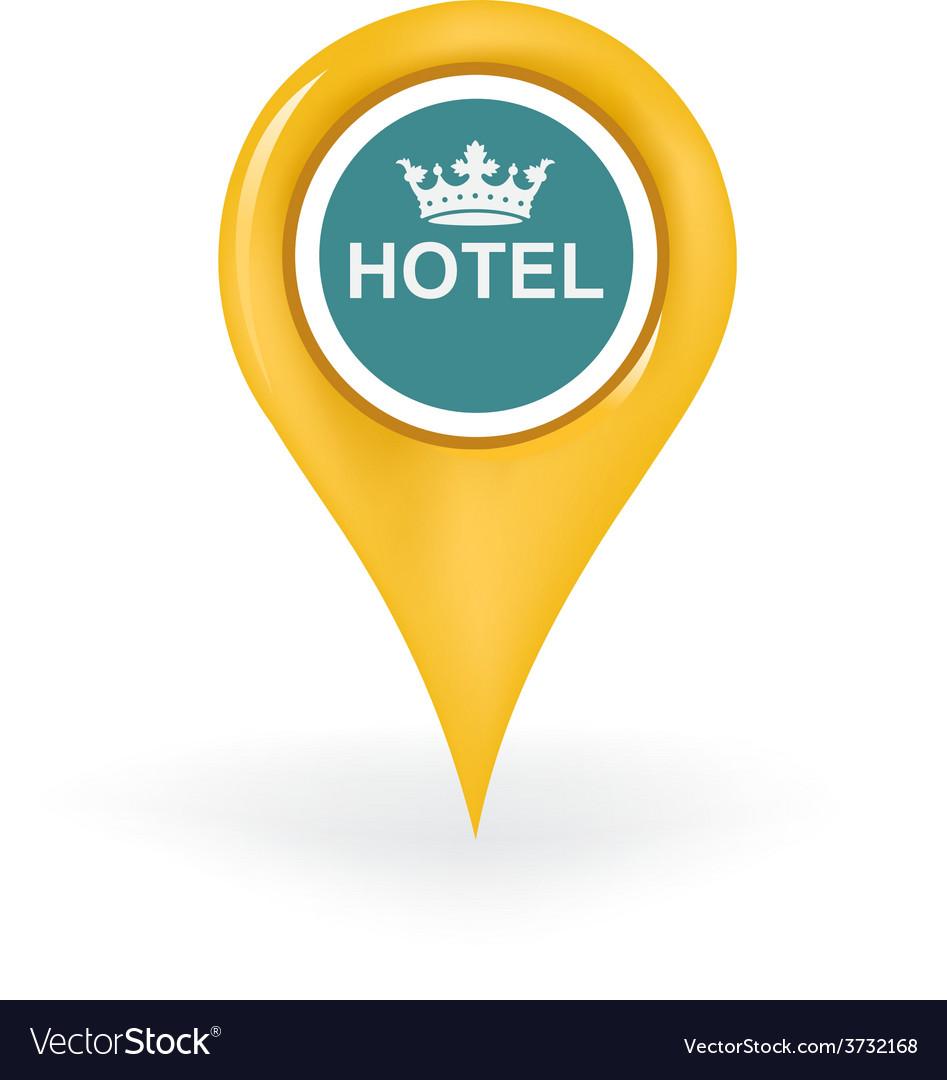 Exclusive hotel location vector | Price: 1 Credit (USD $1)