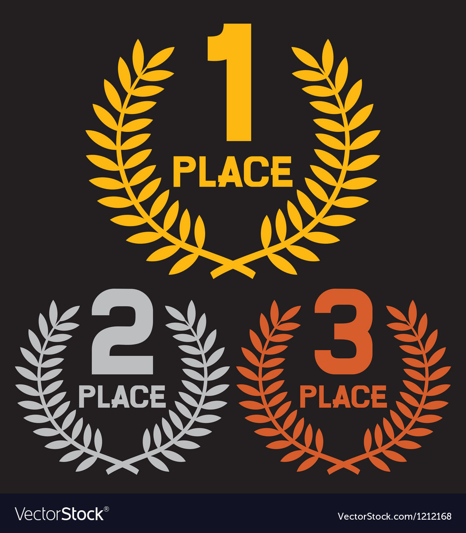 First place second place and third place vector | Price: 3 Credit (USD $3)