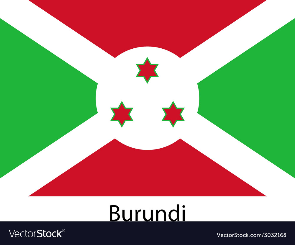 Flag of the country burundi vector   Price: 1 Credit (USD $1)