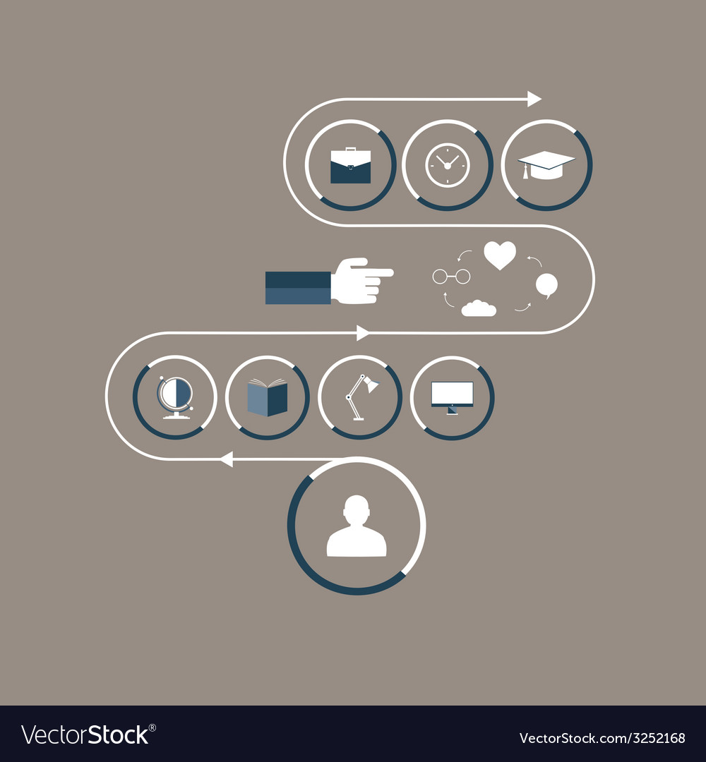 Flat icons interior items in the workroom vector | Price: 1 Credit (USD $1)