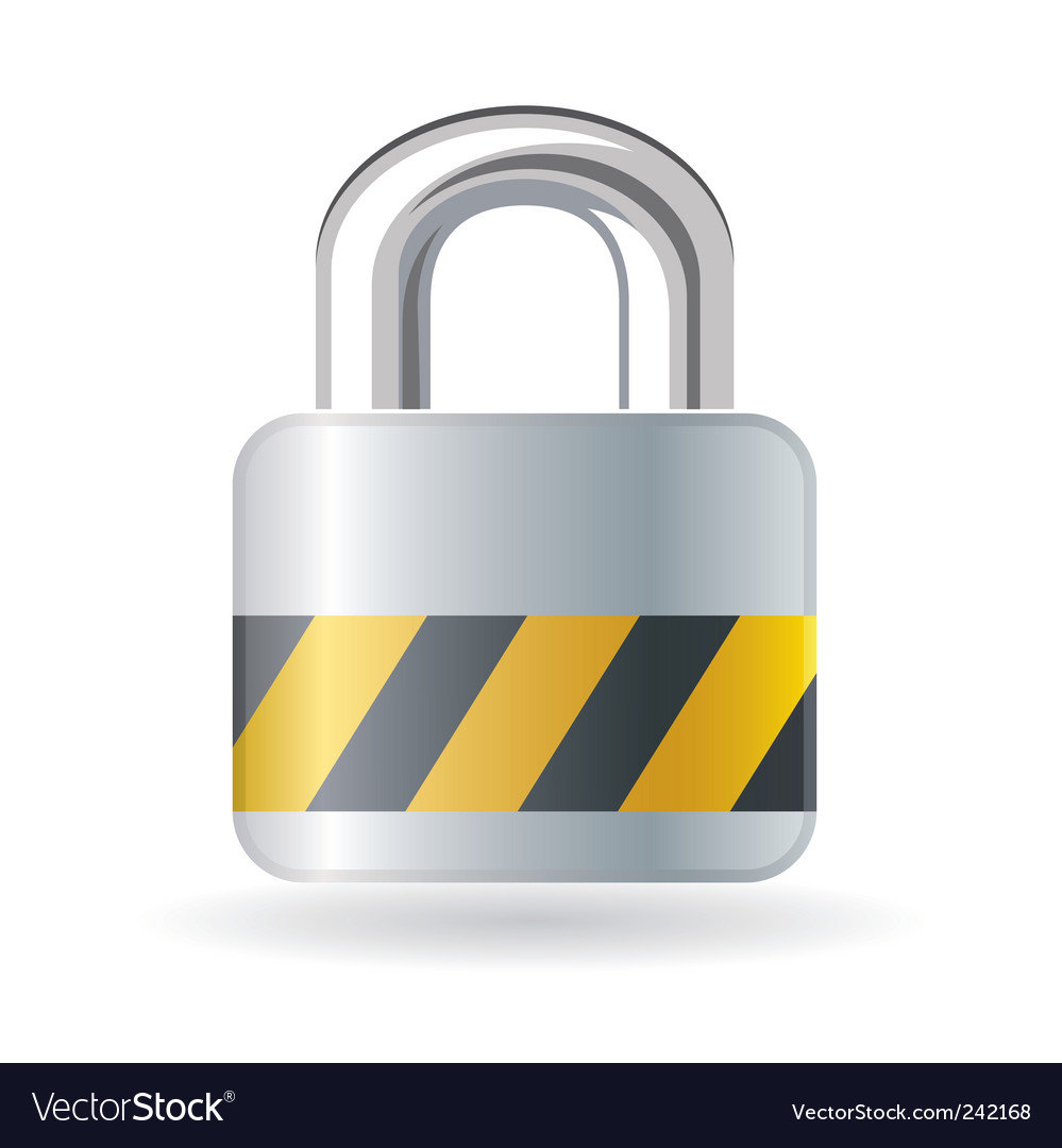 Lock isolated on white background vector | Price: 1 Credit (USD $1)