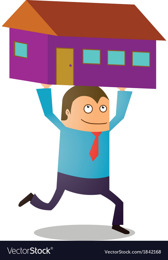 Man buying house vector | Price: 1 Credit (USD $1)