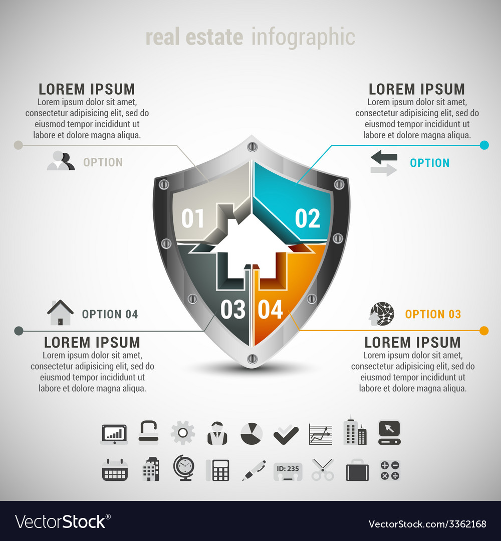 Real estate infographic vector | Price: 1 Credit (USD $1)