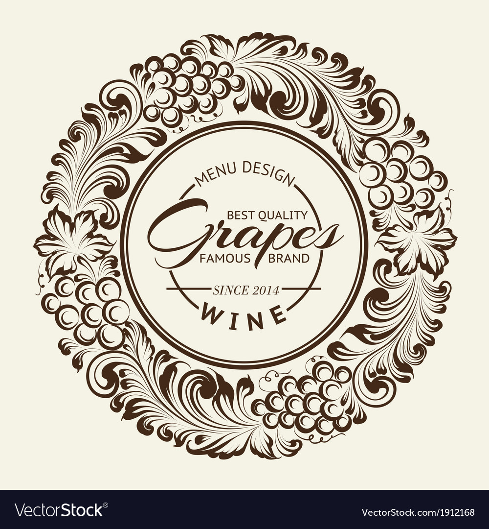 Vintage radial ornament over sepia vector | Price: 1 Credit (USD $1)
