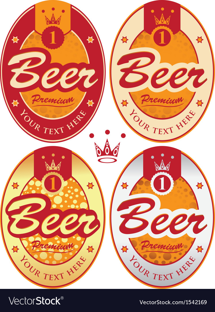 Beer labels vector | Price: 1 Credit (USD $1)