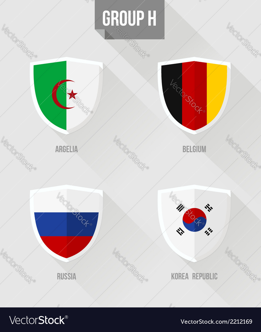 Brazil soccer championship 2014 group h flag signs vector | Price: 1 Credit (USD $1)
