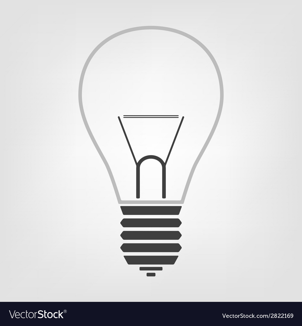 Light bulb icon in the background vector | Price: 1 Credit (USD $1)