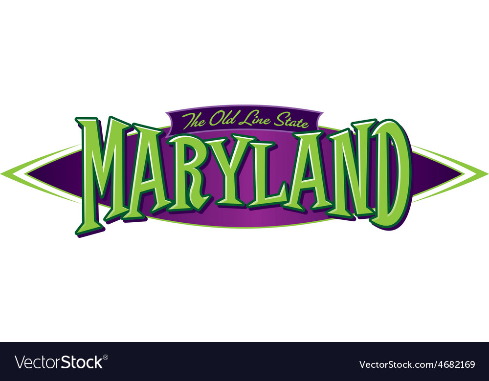 Maryland the old line state vector