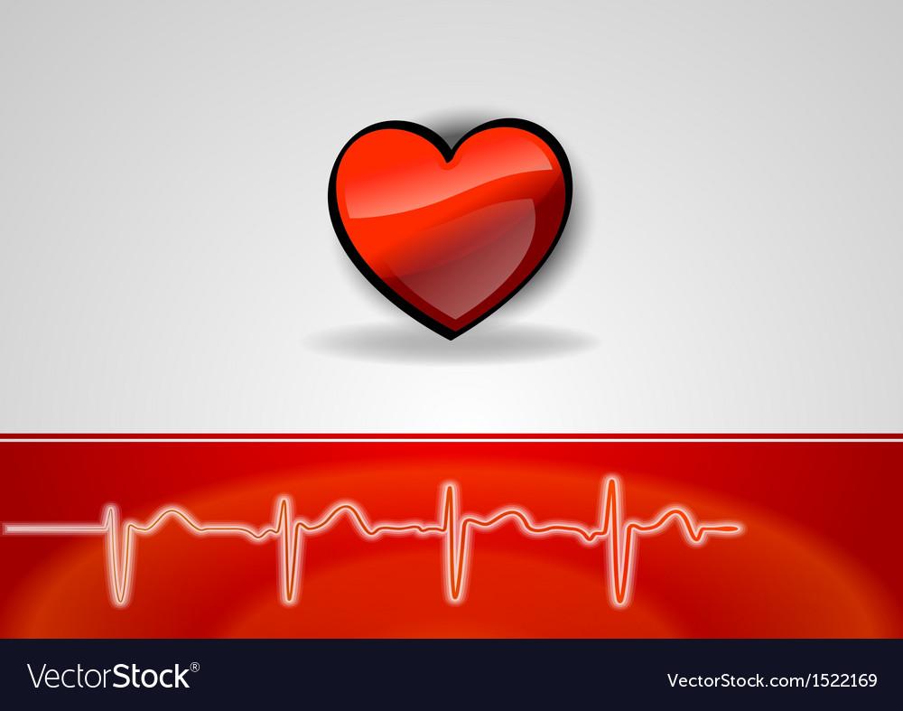 Medical cardio heart vector | Price: 1 Credit (USD $1)