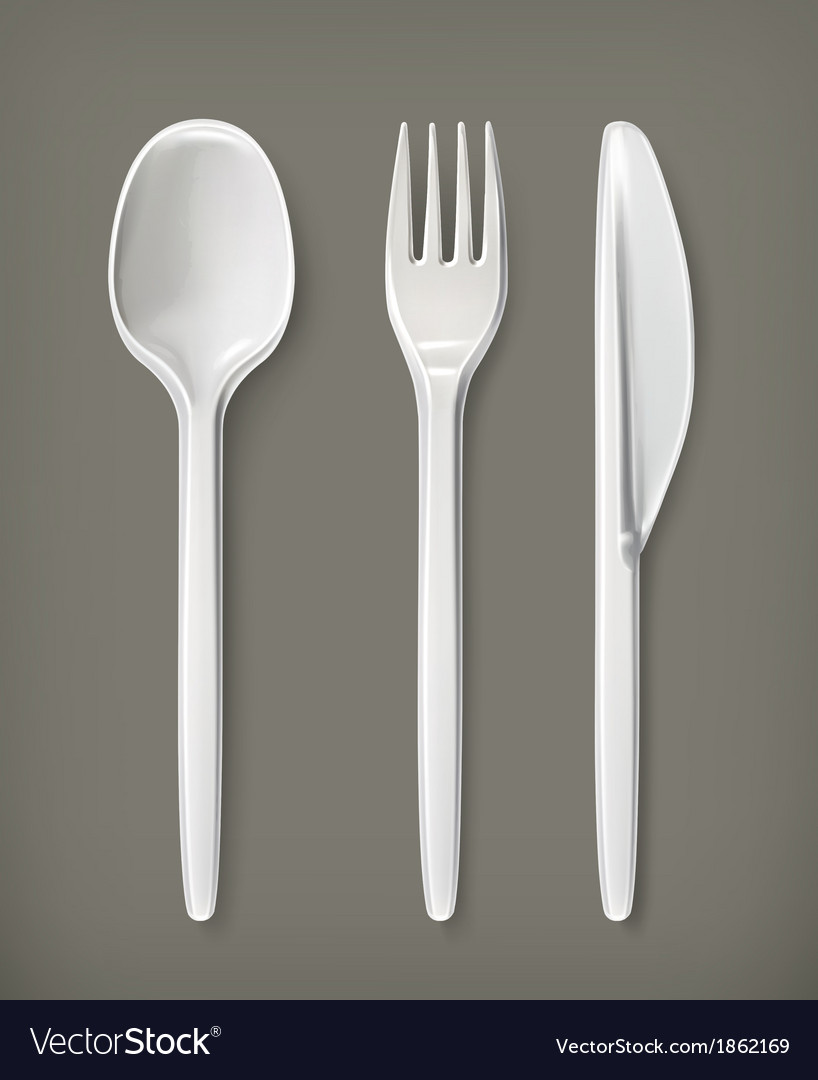 Plastic cutlery vector | Price: 3 Credit (USD $3)