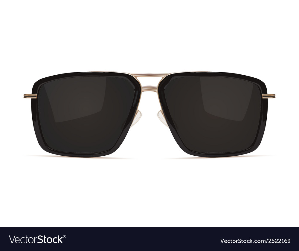 Sunglasses isolated on white background vector | Price: 1 Credit (USD $1)