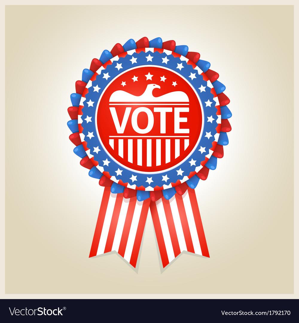 American patriotic election label vector | Price: 1 Credit (USD $1)