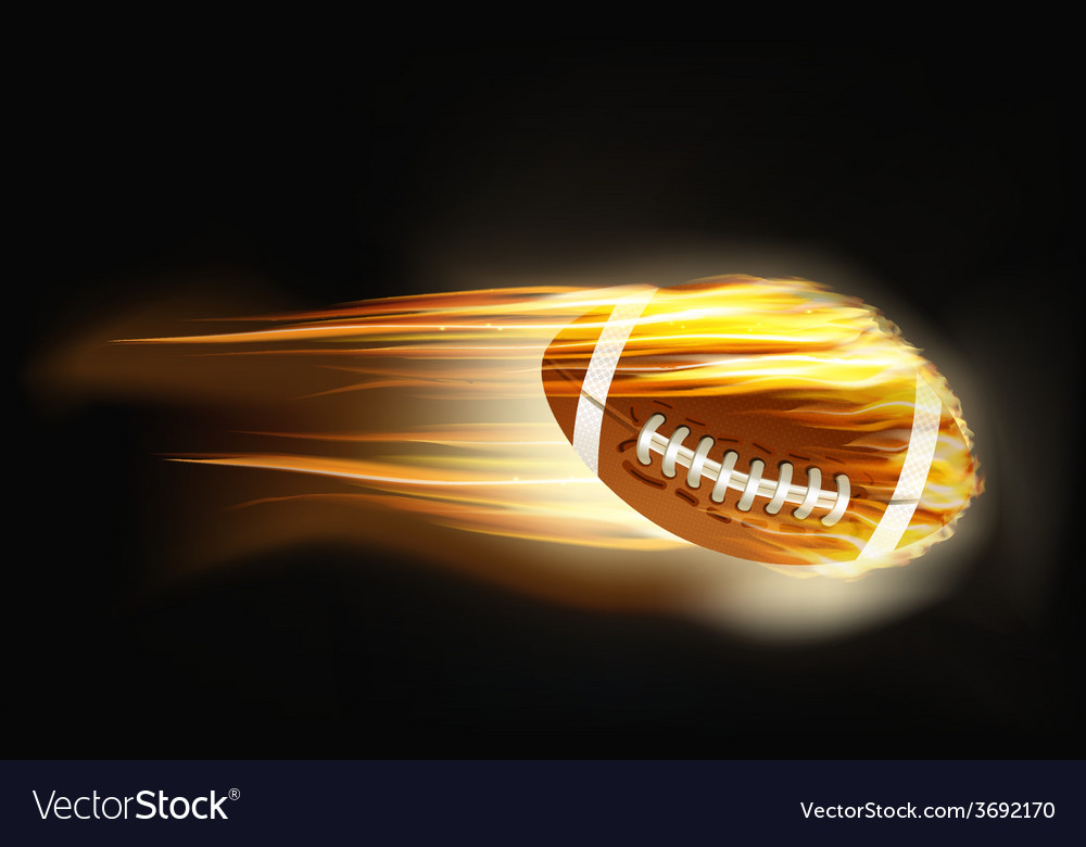 Ball for american football on fire vector | Price: 1 Credit (USD $1)