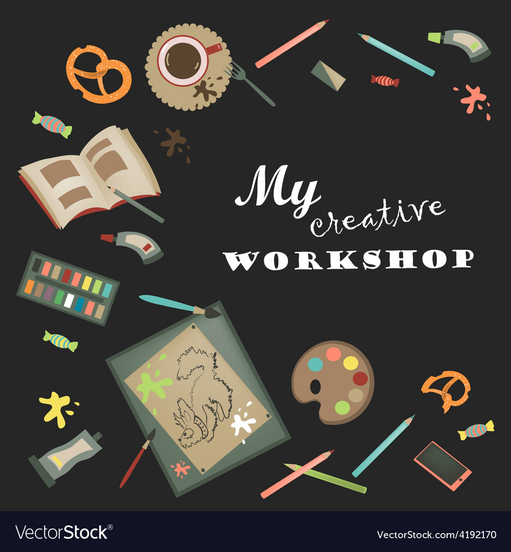 Creative set for artist vector | Price: 1 Credit (USD $1)