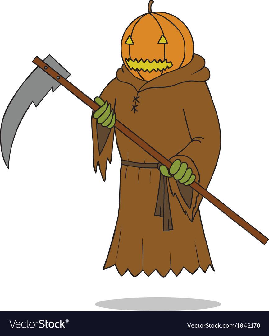 Death angel pumpkin vector | Price: 1 Credit (USD $1)