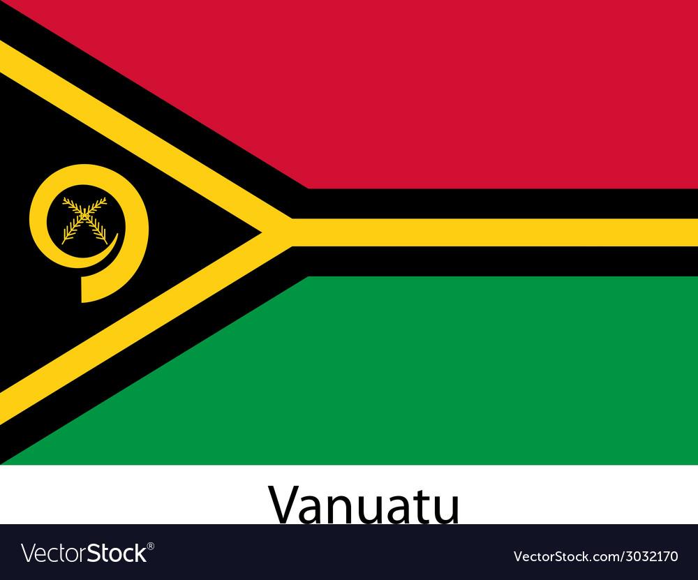 Flag of the country vanuatu vector | Price: 1 Credit (USD $1)