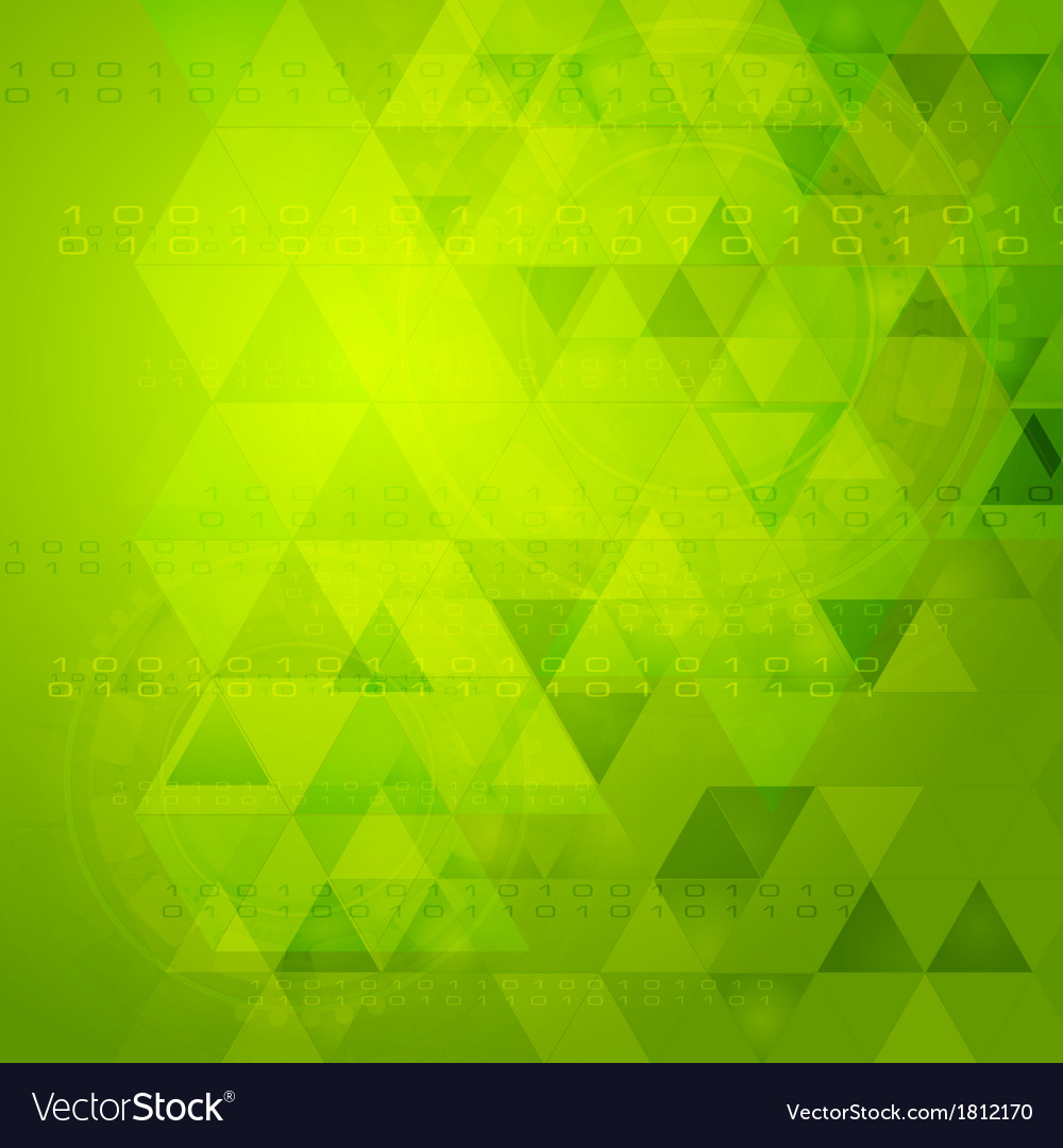 Green tech design vector | Price: 1 Credit (USD $1)