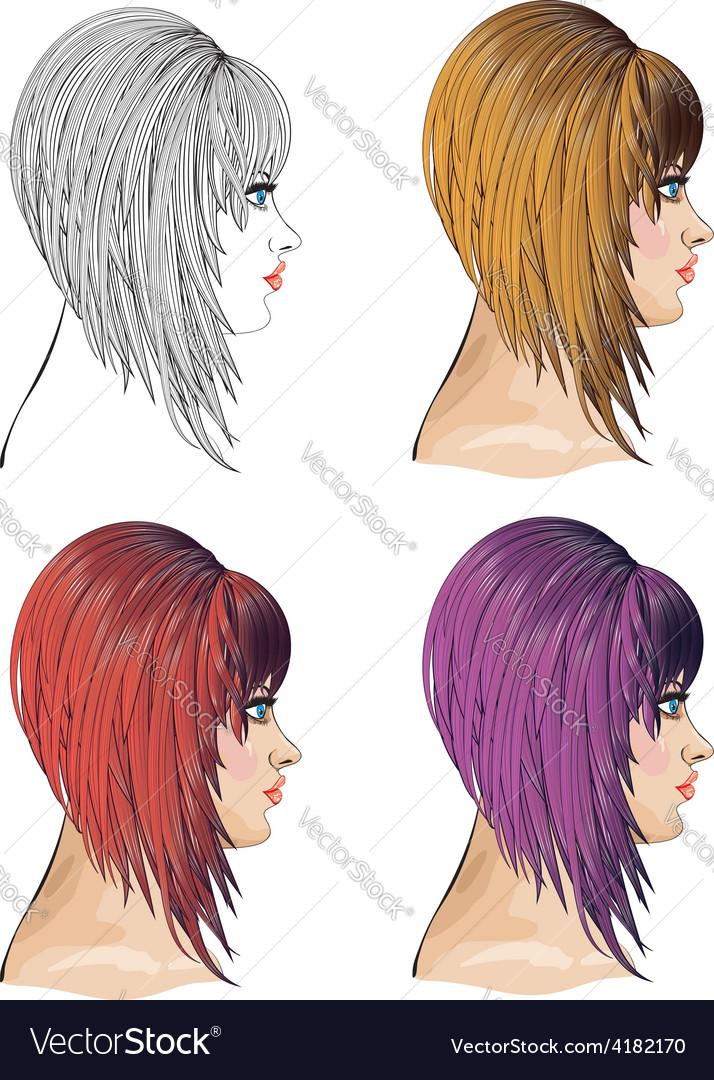 Hair bob vector | Price: 1 Credit (USD $1)