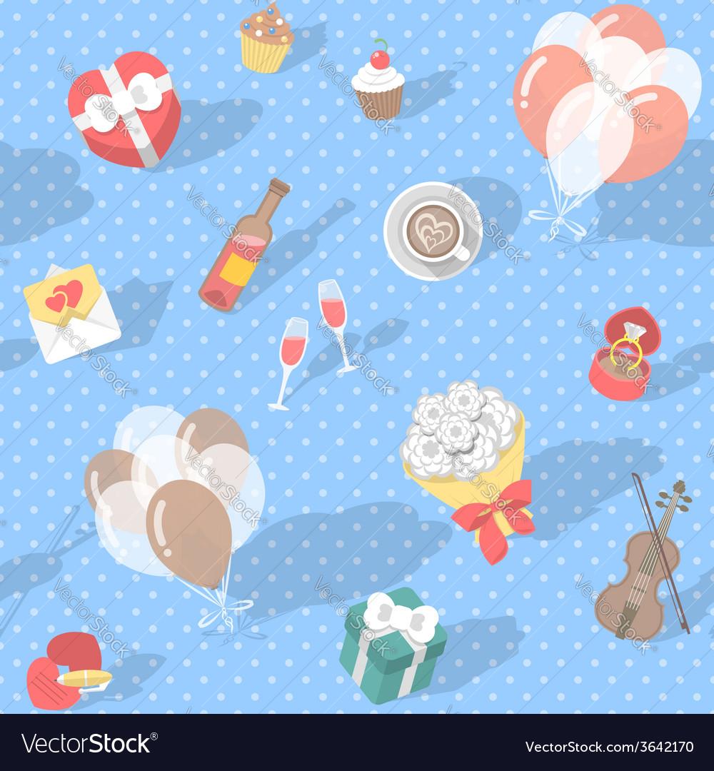 Love pattern polka dot vector | Price: 1 Credit (USD $1)