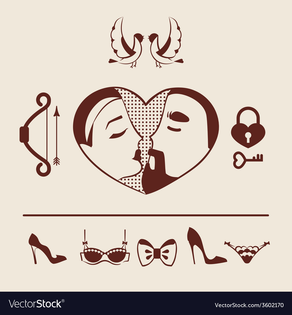 Man and woman couple in love vector   Price: 1 Credit (USD $1)