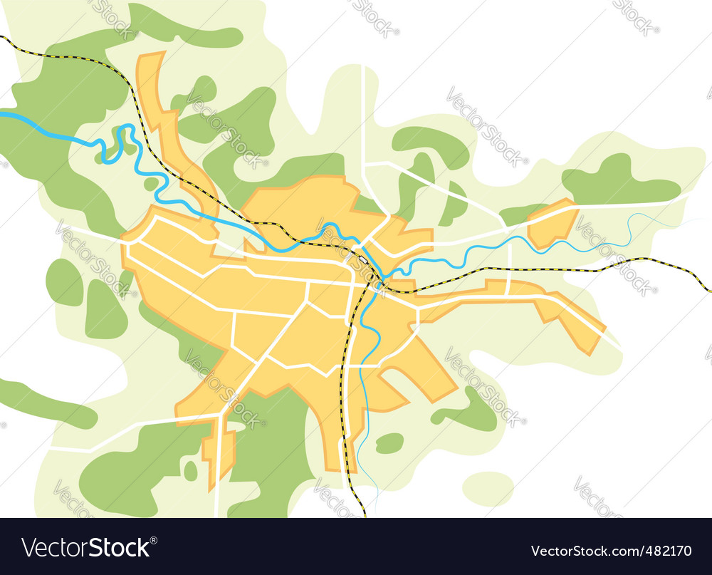 Map of the city vector | Price: 1 Credit (USD $1)