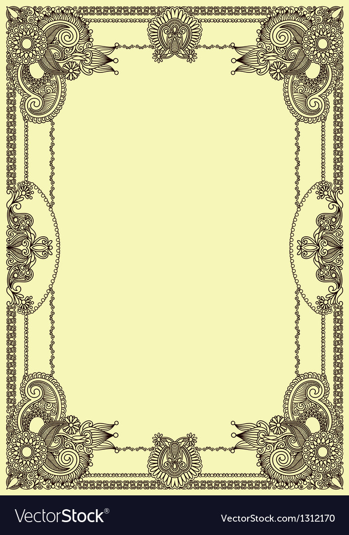 Original floral vintage frame vector | Price: 1 Credit (USD $1)
