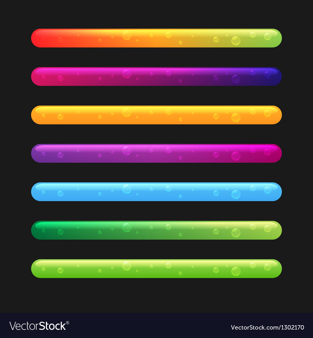 Progress bar set for games set 2 vector | Price: 1 Credit (USD $1)
